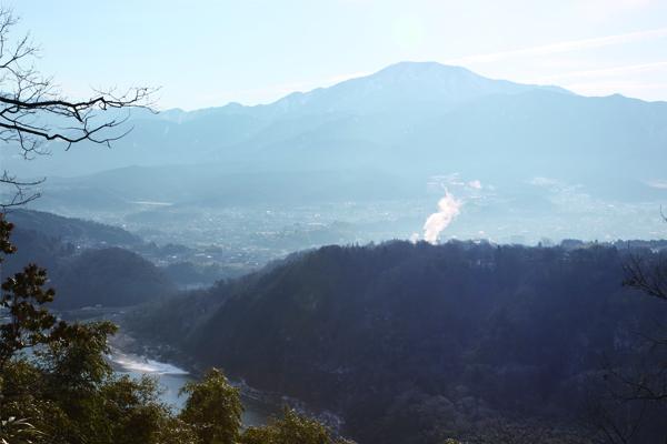 苗木城跡から眺める恵那山