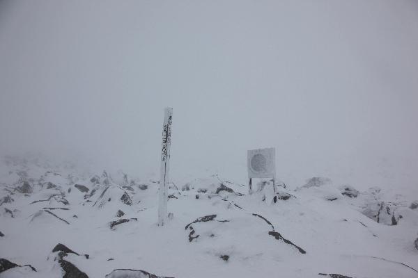 蓼科山山頂20130224