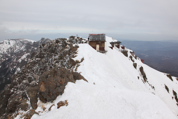 2013年3月赤岳山頂