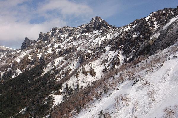 2013年3月赤岳登山道より