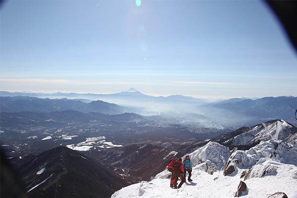 赤岳から見た富士山