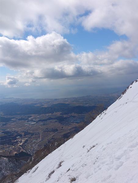伊吹山から見る琵琶湖