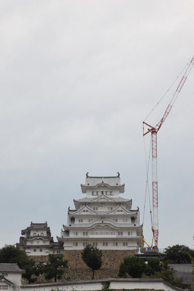 姫路城_工事中