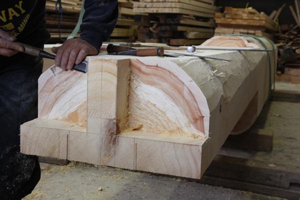 東濃ひのきの柱の加工6