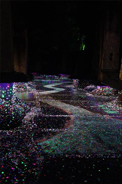博石館ライトアップ