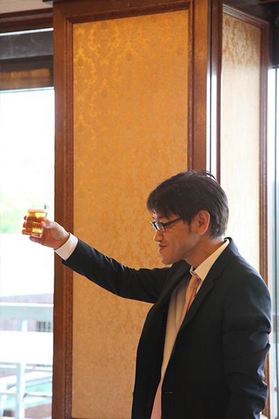 社長の乾杯